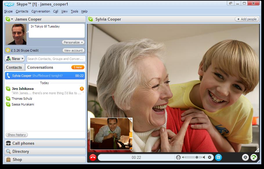Интерфейс Skype фото
