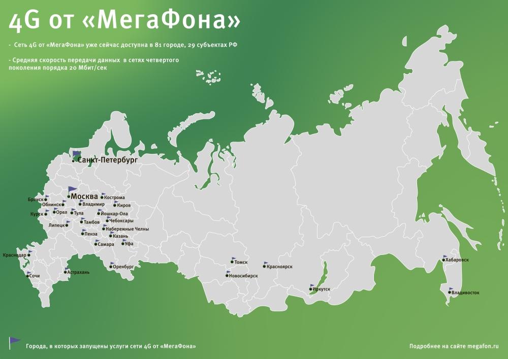 Карта МегаФон 4G