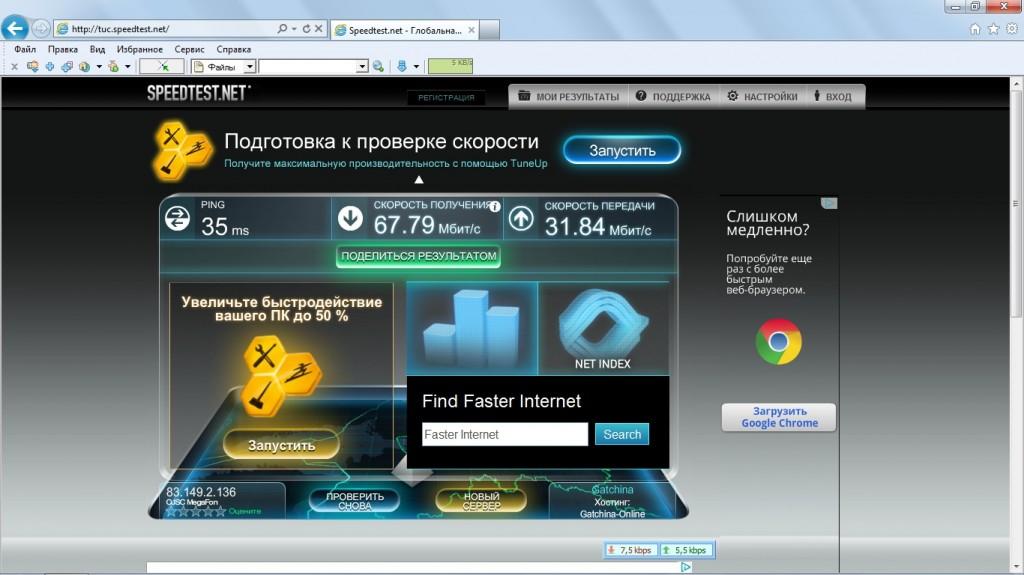 Скорость 4g от МегаФон